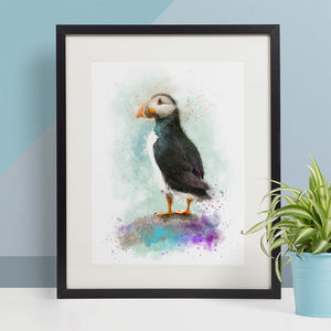 Puffin Animal Print, Wildlife Art Print