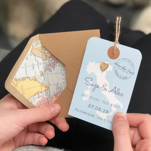 Location Heart Luggage Tag Save The Date