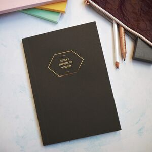 Personalised Cover And Spine Gold Foil Notebook