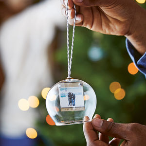 Personalised Photo Dome Glass Bauble - christmas decorations