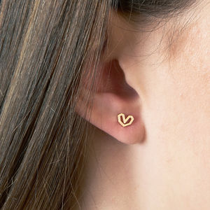 Heart Gold Vermeil Stud Earrings
