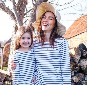 Personalised Mummy And Me Breton Tops - babies' mum & me sets