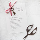 'Love Is The Key' DIY Wedding Invitation Pack