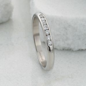 Slim Channel Set Diamond Eternity Ring - wedding rings
