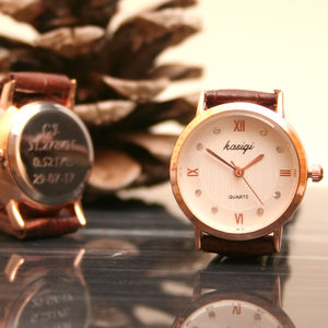 Personalised Ladies Watch With Crystals - watches