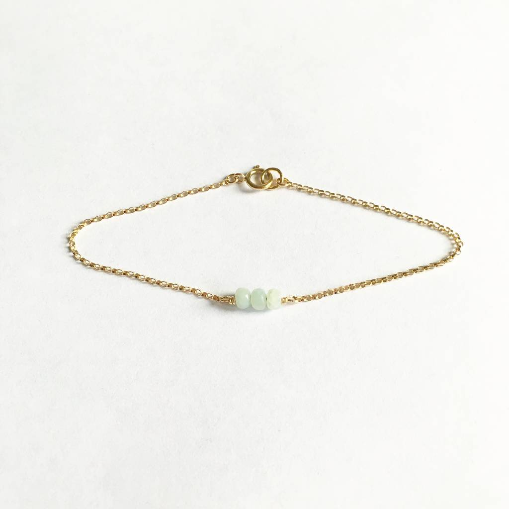 Gold Filled Amazonite Bracelet