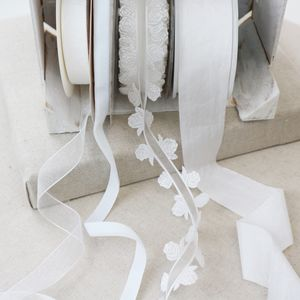 Bridal White Ribbon Collection. Luxury Trims