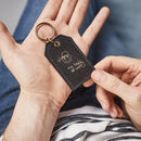 Personalised Leather Key Ring For Dads