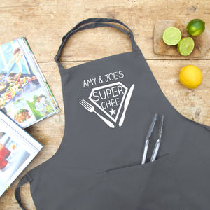 Personalised Super Chef Apron - gifts for her