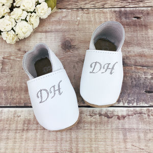 Personalised Monogrammed Christening Shoes - clothing