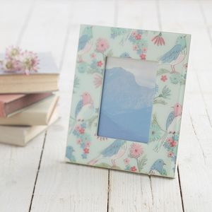 Illustrated Bird Picture Frame - home accessories