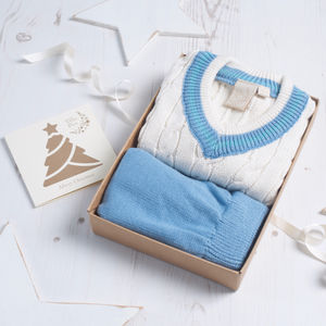 Baby Boy Cricket Jumper And Knitted Pant Set - trousers & leggings