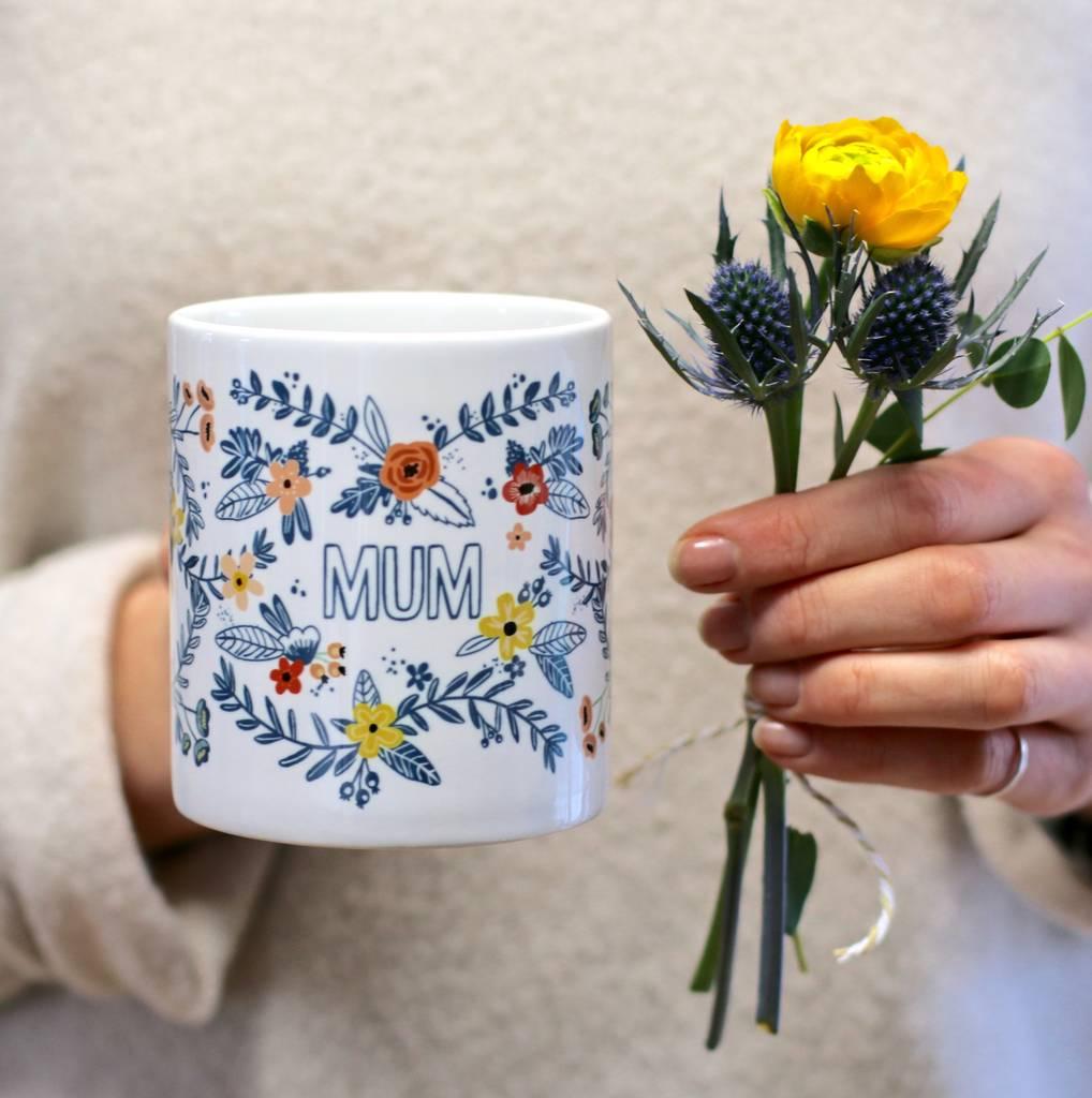 Personalised Floral Design Mug