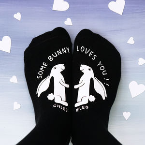 Personalised Some Bunny Loves You Socks - valentine's gifts for her