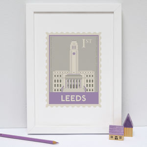 Leeds Stamp Print - architecture & buildings