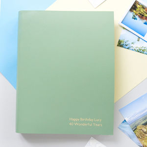 Personalised A4 Leather Photo Album - 40th birthday gifts