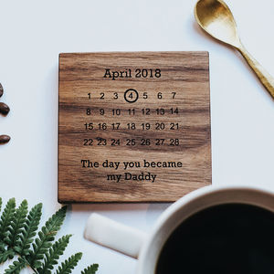 Personalised Wooden Gift Never Forget Coaster