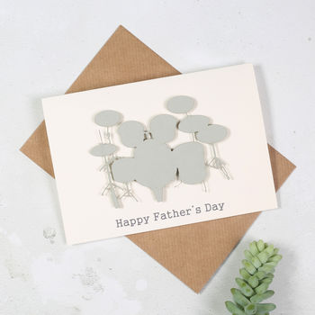 Personalised Drum Kit Father's Day Card