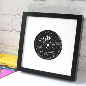 Personalised '80s Record Label Print