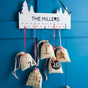 Christmas Advent Calendar Cotton Bags - advent calendars