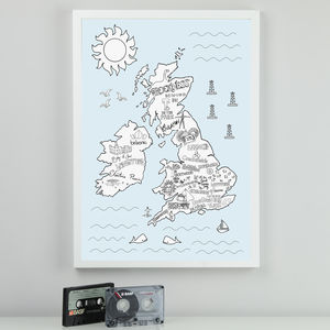 Illustrated UK And Ireland Music Festival Map