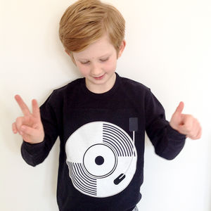 Child's Record/ Vinyl Sweatshirt - clothing