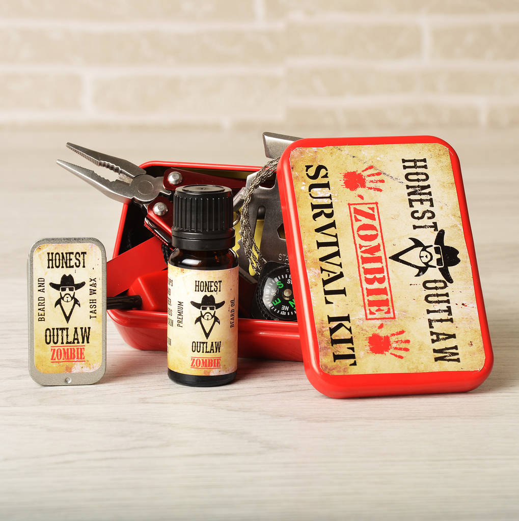 zombie survival beard grooming kit by honest outlaw. Black Bedroom Furniture Sets. Home Design Ideas