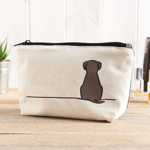 Sitting Dog Zip Bag