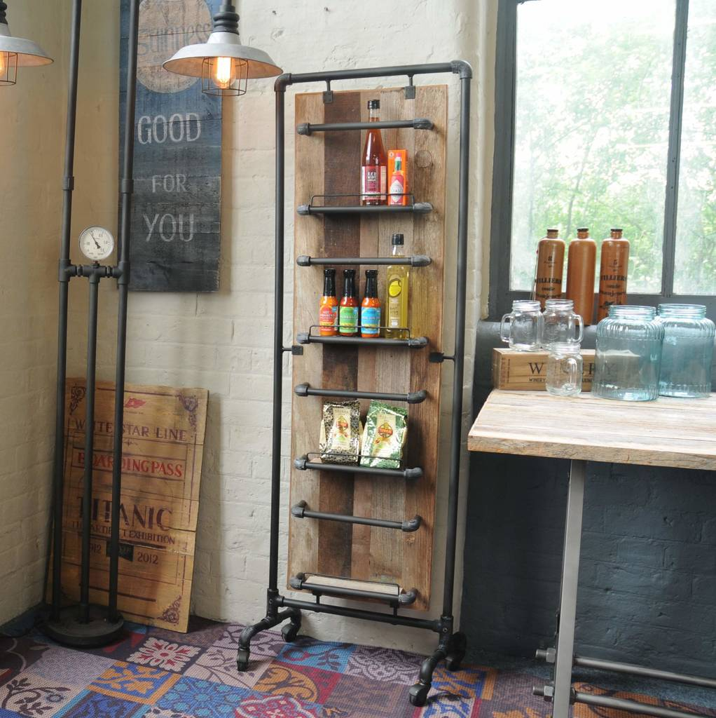Industrial Vintage Magazine Pantry Rack Tall