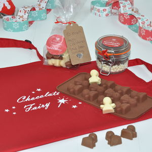 Personalised Christmas Angel Chocolate Kit With Apron