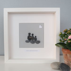 Personalised Family Pebble People Picture Artwork