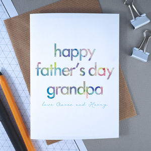 Father's Day Card For Grandpa | Personalised - view all father's day gifts