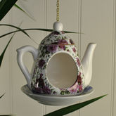 Vintage Teapot Bird Feeder - styling your day