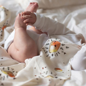 Bamboo Baby Swaddle Fox Blanket - new baby gifts