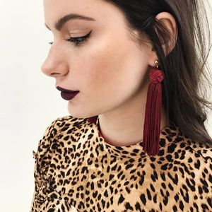 Johanna Silky Tassel Drop Earrings - statement earrings