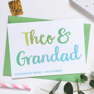 Personalised Grandad And Me Card - winter sale