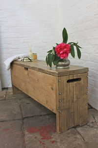 Millar Reclaimed Scaffolding Storage Box And Bench - furniture