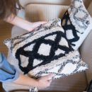Geometric Scandi Cushion Cover