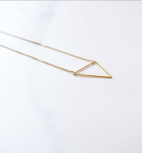 'Wisdom' Triangle Charm Necklace - necklaces & pendants