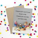 Friendship Wine Funny Card
