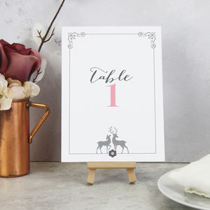 'Stag' On The Day Wedding Stationery