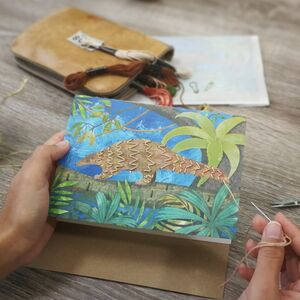 Embroider Me Pangolin Greeting Card