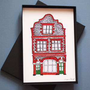 Personalised Illustrated House Portrait
