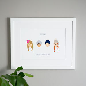 Personalised Friends Hat Portrait - gifts for teenage girls