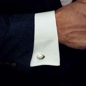 Stylish Rugby Ball Cufflinks - jewellery sale