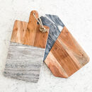 Dark Grey Marble And Mango Wood Serving Board