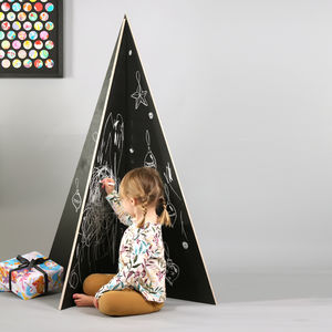 Alternative Chalkboard Christmas Tree - northern lights