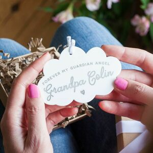 Personalised Guardian Angel Memorial Decoration