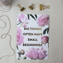 Floral Inspirational Gold Print