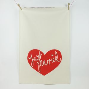 Just Married Tea Towel Gift - kitchen